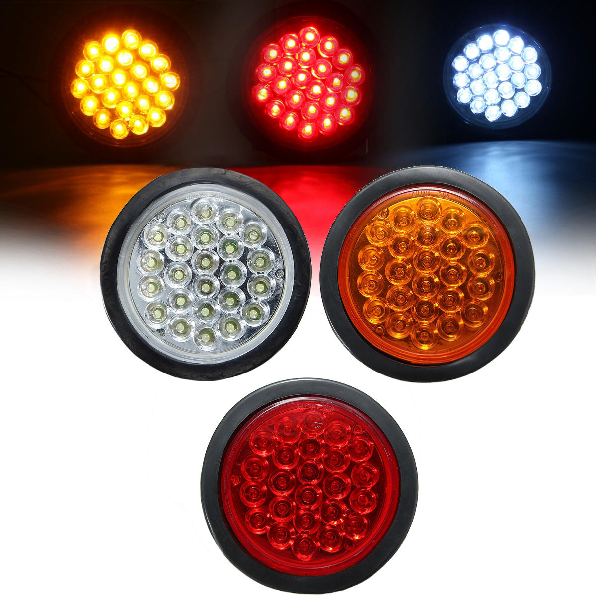 Lamp Boat Tail Brake Red Truck Round Reflector Rear 24 Trailer for Bus Stop Light Yellow LED White xBoeCrd