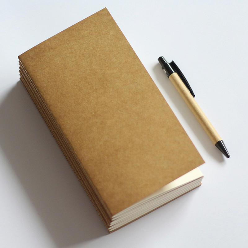 Standard Kraft Paper Notebook Blank Dot Grid Notepad Diary Journal Planner Organizer Filler Paper