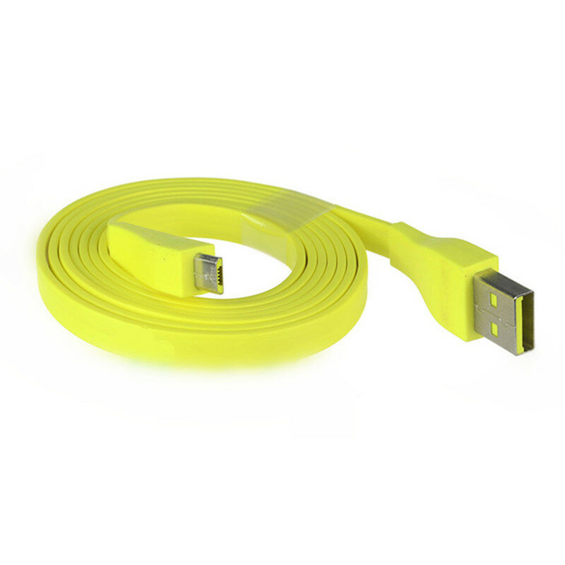 1 2M Yellow Micro USB Charging Cable for Logitech UE BOOM bluetooth Speaker