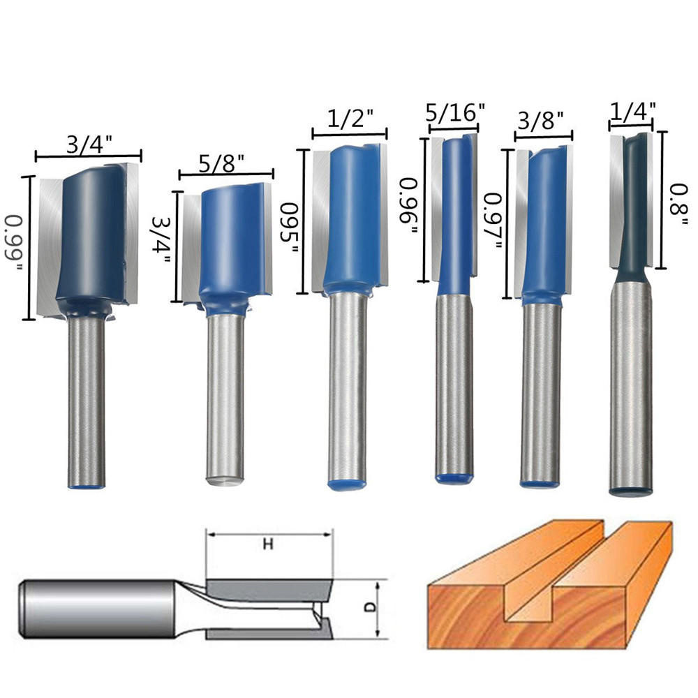 6pcs 1 4 Inch Shank Router Bit Set Wood Working Cutter