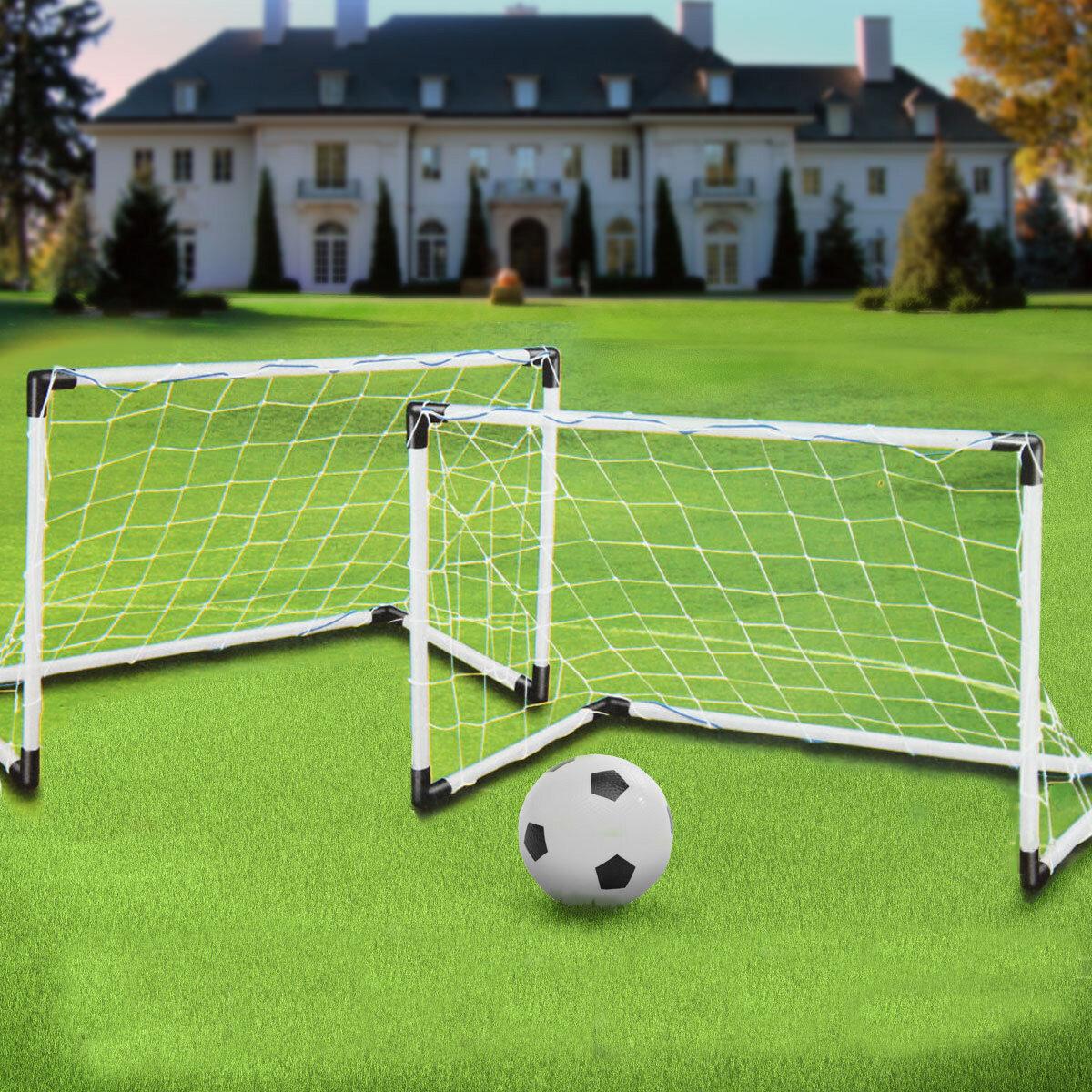 Soccer Goals For Sale >> 2 Mini Set Football Soccer Goal Post Net Ball Pump Kids Outdoor Sport Training