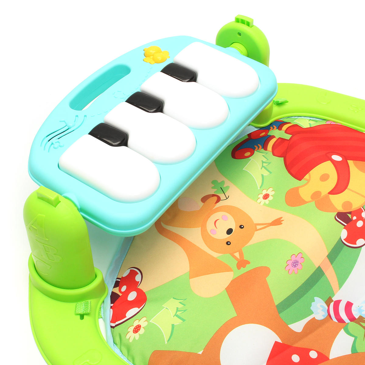 Foot Play Piano Musical Lullaby Baby Activity Playmat Gym Toy Soft Baby Play Mat - 11