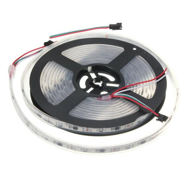 5M WS2812B 5050 RGB Waterproof IP67 150 LED Strip Light Dream Color Changing Individual Addressable DC 5V - 10