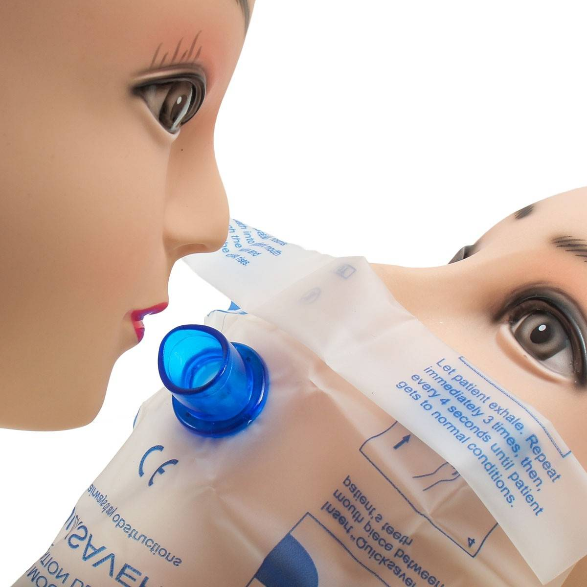 CPR Resuscitation Mouth To Mouth Respirator Face Shield Mask With One Way Valve