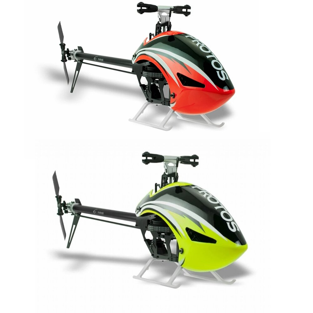 MSH Protos 380 EVO 6CH 3D Flying Flybarless RC Helicopter Kit With Carbon Fiber Tail Tube