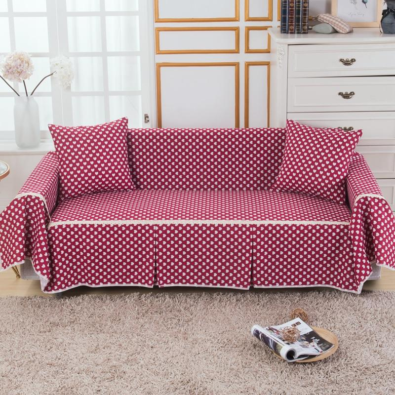 Couch Slipcover Cotton Blend 1 4 Seat