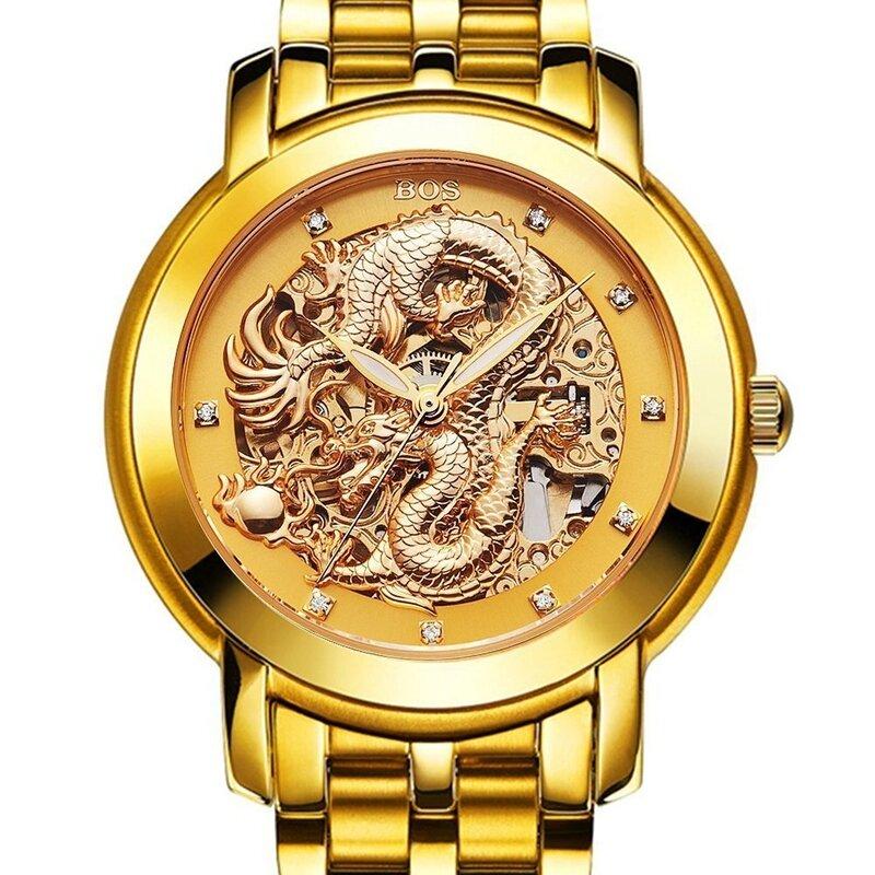 DEFFRUN Business Style Full Steel Automatic Mechanical Watch - 5