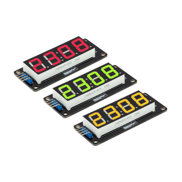 0.56 Inch LED Display Tube 4-Digit 7-segments Module RobotDyn for Arduino - products that work with official Arduino boards