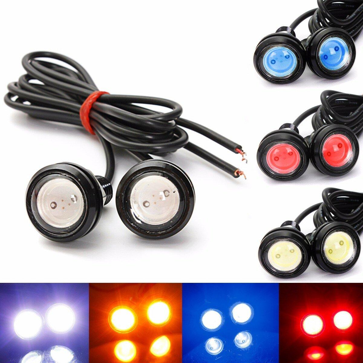 2 PCS 3W LED Eagle Lampu Mata Daytime Running DRL Bulb Backup Membalikkan Lampu 12 V Putih untuk Mobil Motor