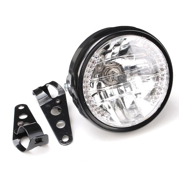 7 inch H4 H13 75W Round LED Headlights Projector For Harley Cafe Racer Motorcycle For Jeep - 4