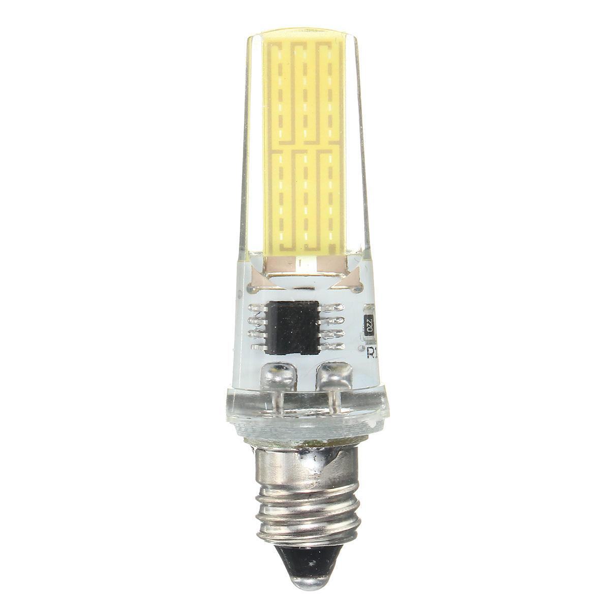 Dimmable E11 E12 E14 E17 G4 G8 G9 BA15D 2.5W LED COB Silicone Pure White Warm White Light Bulb 110V - 6