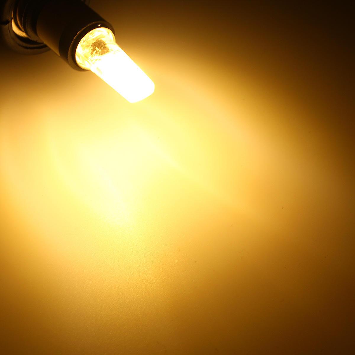 Dimmable E11 E12 E14 E17 G4 G8 G9 BA15D 2.5W LED COB Silicone Pure White Warm White Light Bulb 110V - 3