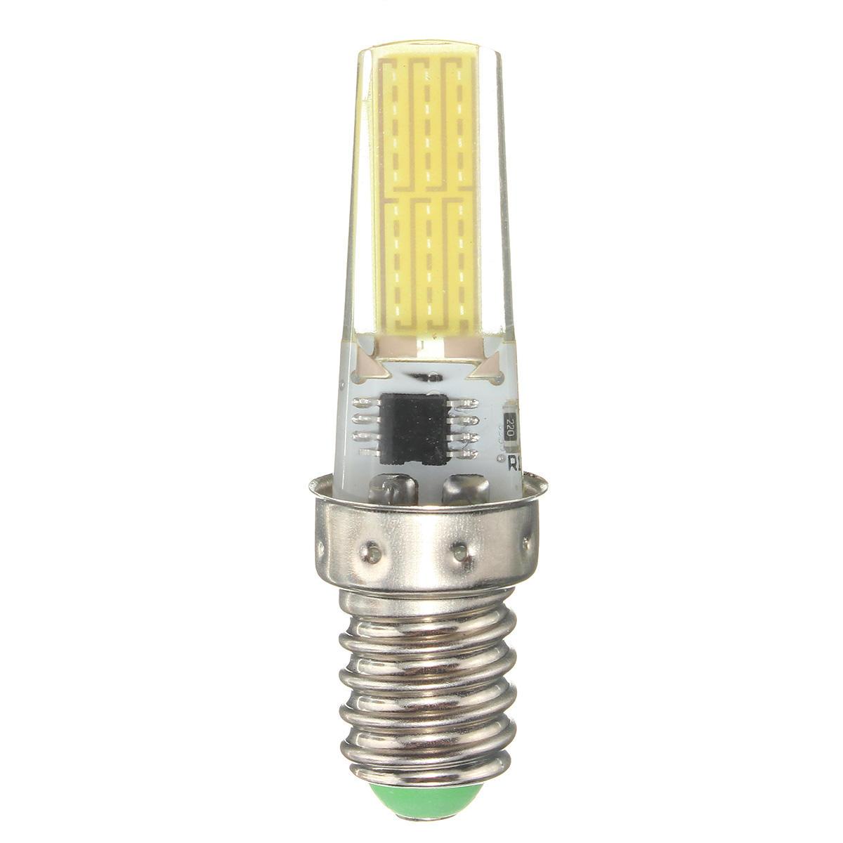 Dimmable E11 E12 E14 E17 G4 G8 G9 BA15D 2.5W LED COB Silicone Pure White Warm White Light Bulb 110V - 9