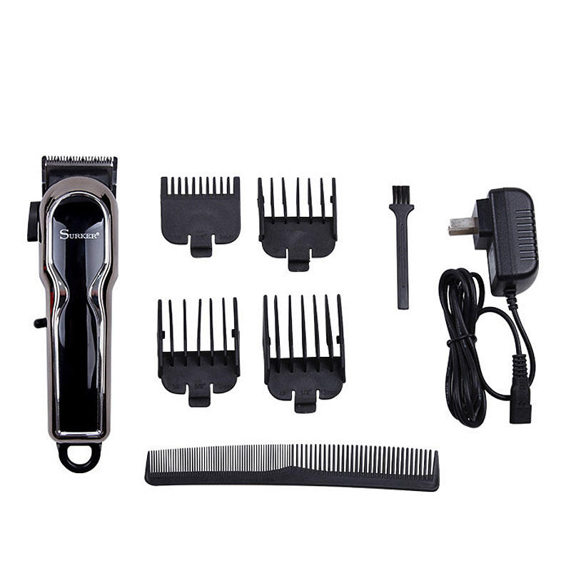 SURKER Cordless Electric Shaver Hair Rechargeable Clipper LCD Digital Display Trimmer Kit