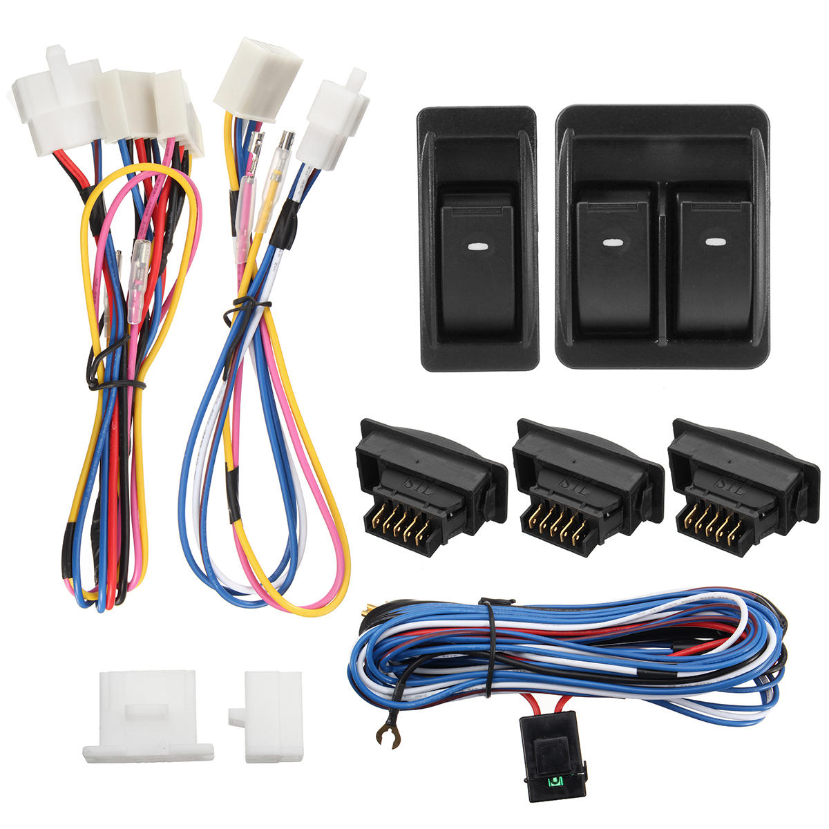 12V Vehicle Off-Road Power Door Window Switch With Wiring Harness on