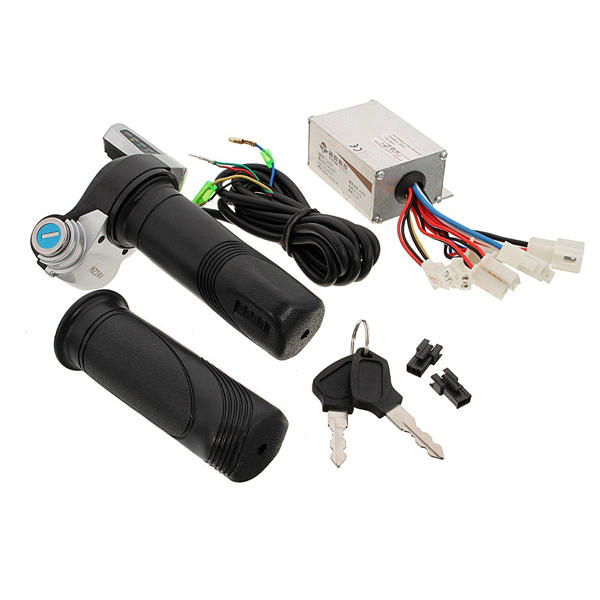 24V 250W Motorcycle Brush Speed Controller & Scooter Throttle Twist Grips
