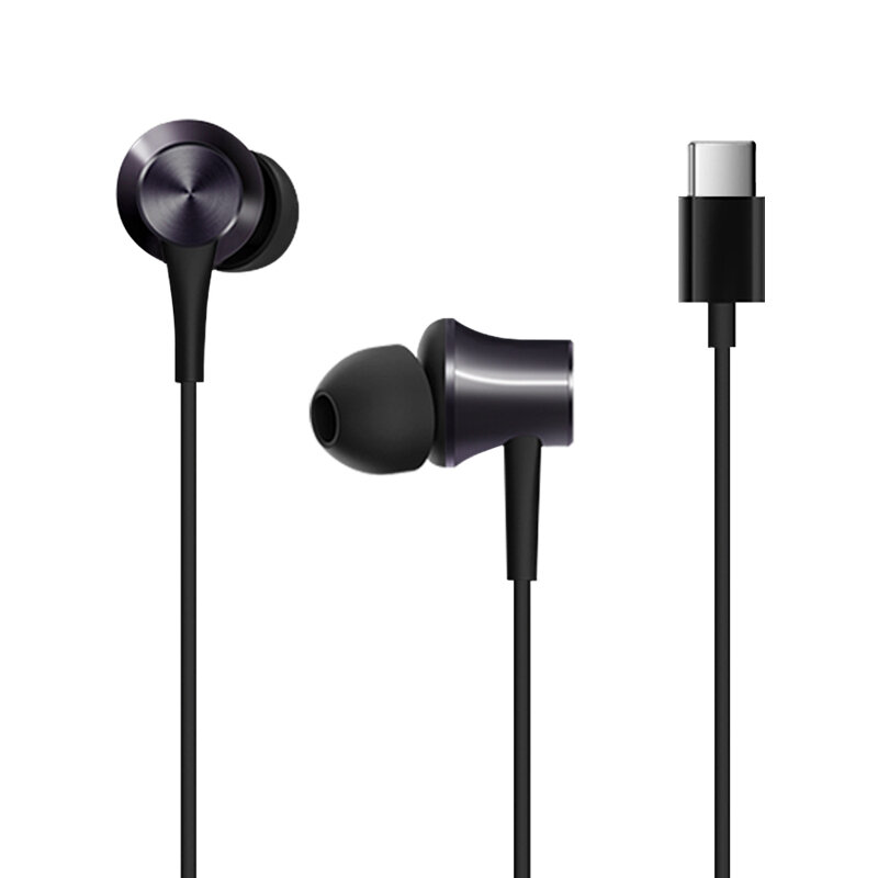 Original Xiaomi Piston Type-C Earphone In-ear Stereo Aluminum alloy Earbuds Headphone with Mic