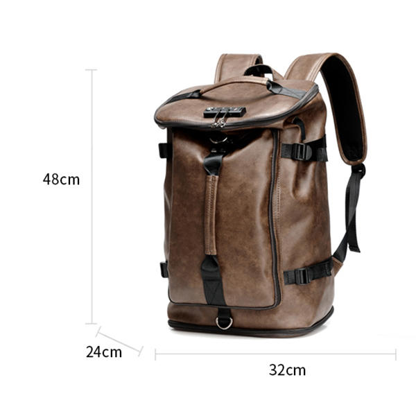 Men Large Capacity USB Outdoor Travel Backpack - 12
