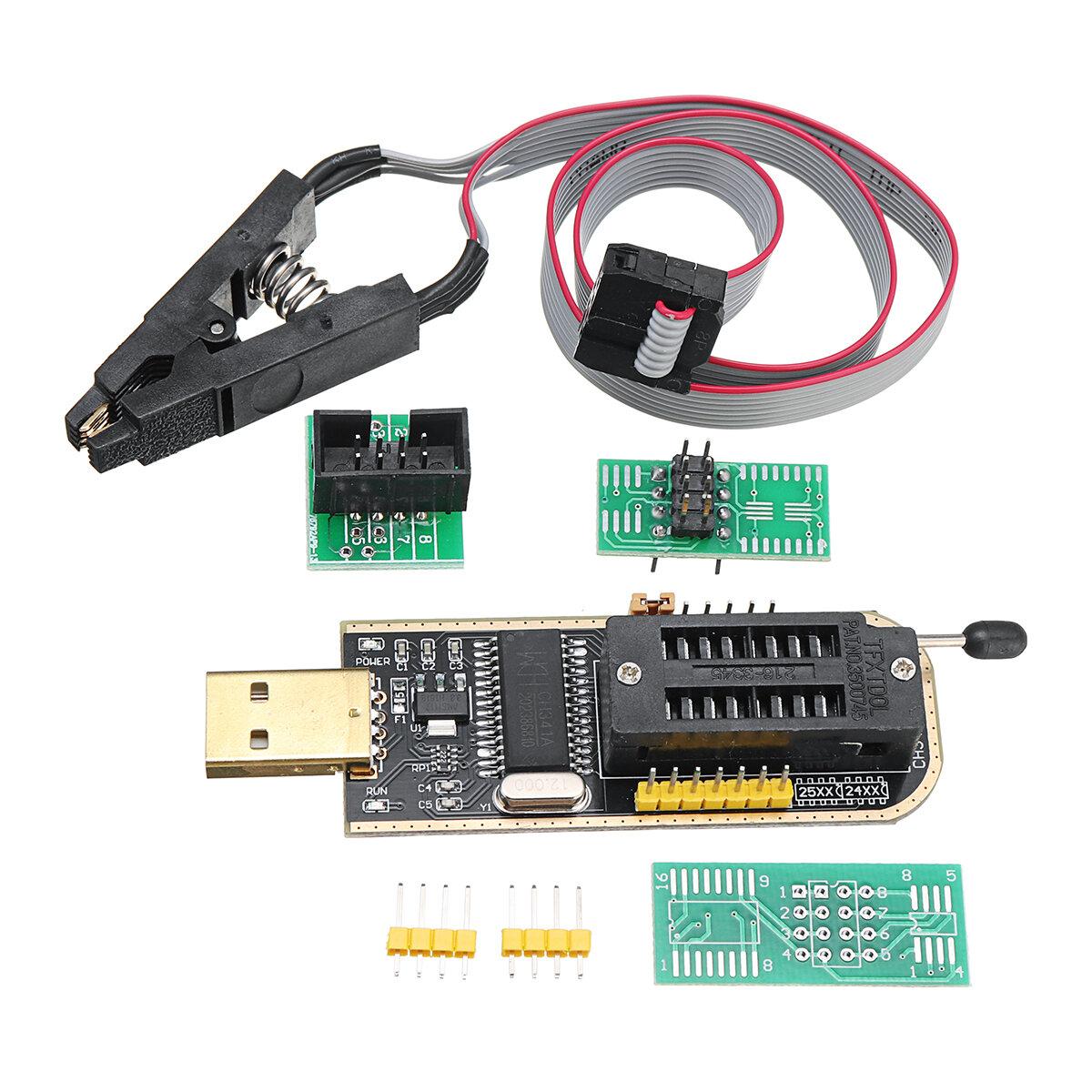 CH341A 24 25 Serisi EEPROM Flash BIOS USB Programcı + SOIC8 SOP8 Klip Adaptör Modülü