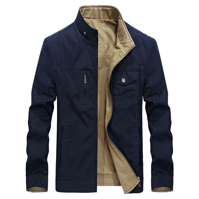 Men's Explosion Models Stand Collar New Jacket Business Yout - 3