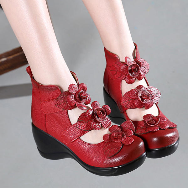 Hollow Out High Heel Casual Comfy Platforms Women Shoes - 12