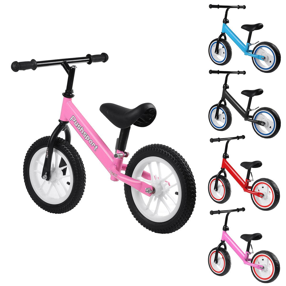 دراجات أطفال ذات توازن وامض قابل للتعديل الارتفاع مع وسائد مريحة ، مقابض غير قابلة للانزلاق مقاومة للاهتراء ، إطارات مطا