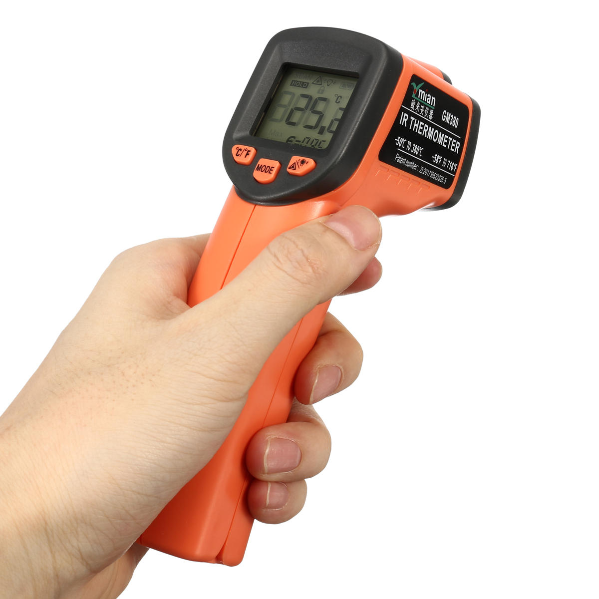 Infrared Digital Thermometer Industrial Temperature Meter 50℃~380℃