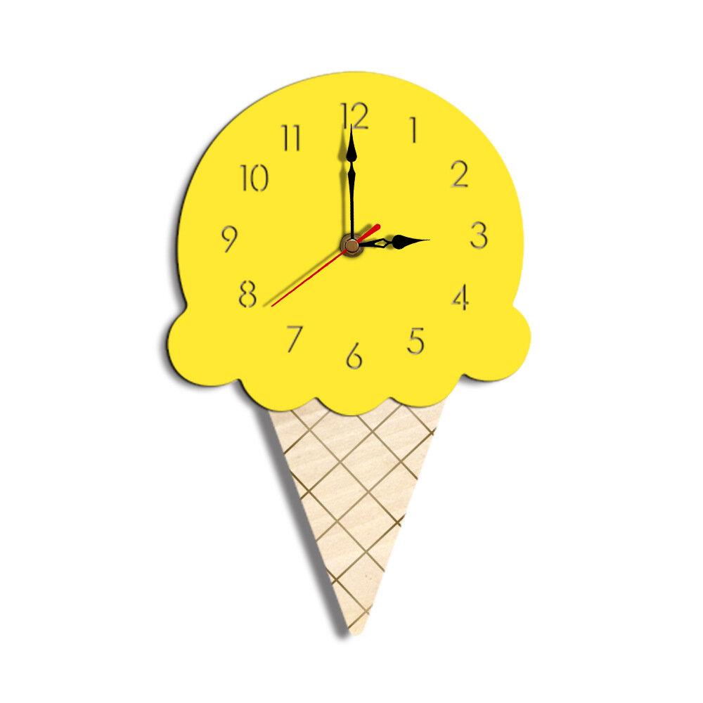 Home Cartoon Creative Wall Clock Living Room Acrylic Ice Cream Children's Clock, Banggood  - buy with discount
