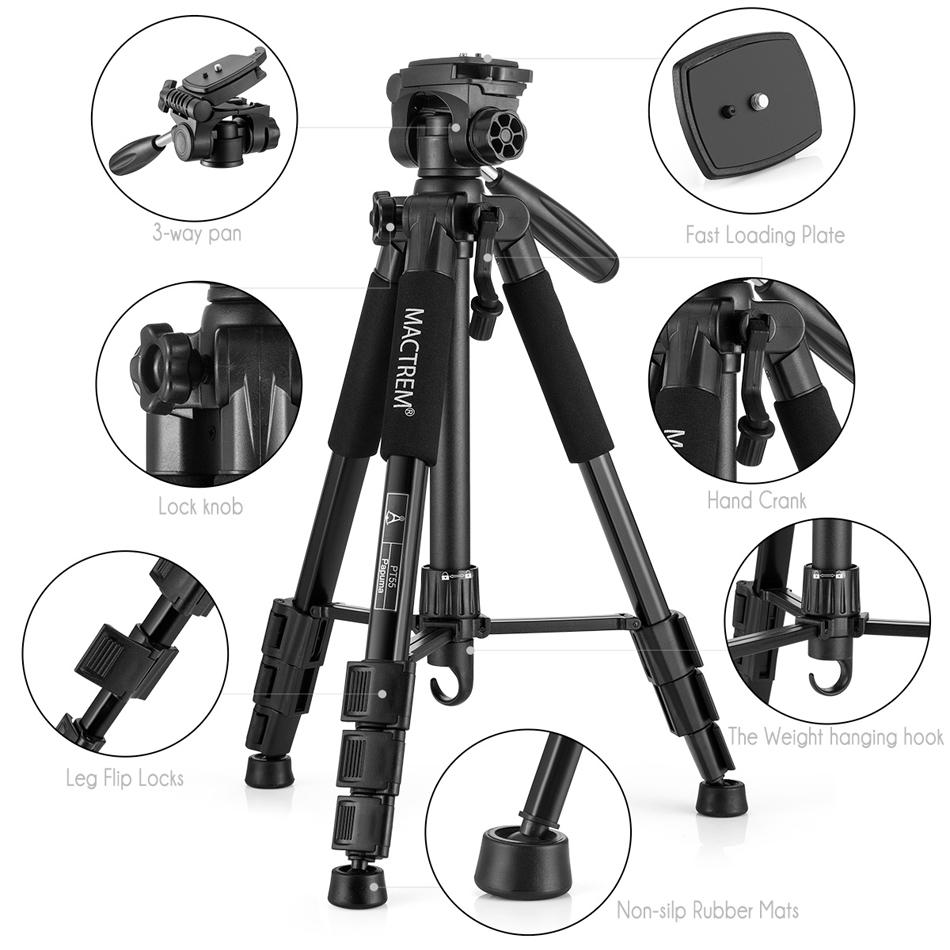 100BTF BF686 Foldable 53cm 164cm Tripod with Removable Ball Head Max Load 10KG - 2