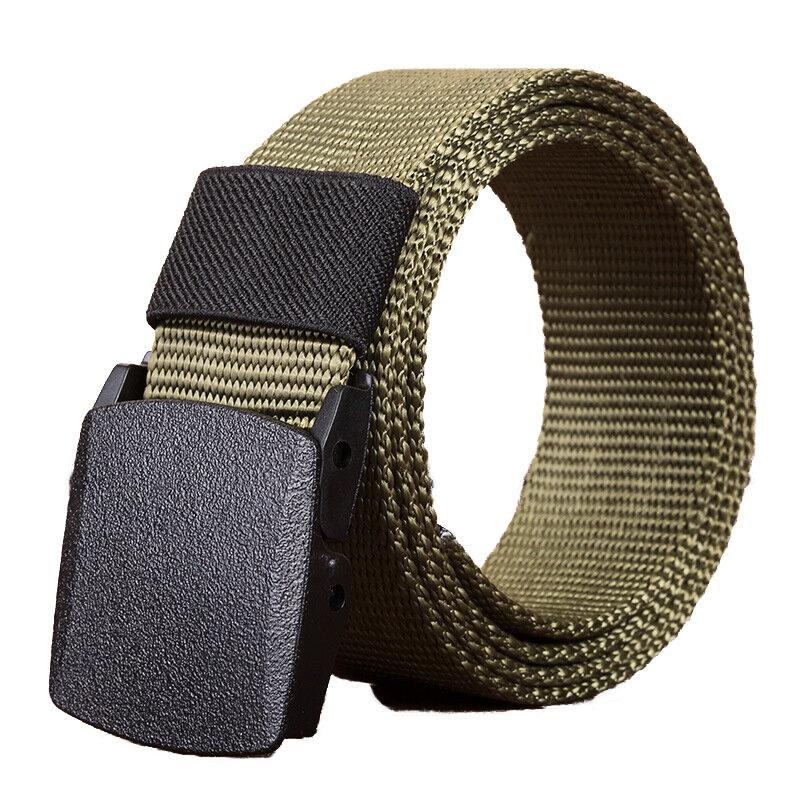 140cm KALOAD R01 Men Women Canvas Adjustable Quick Release Tactical Belt PE Buckle 3.8cm Width Waistband