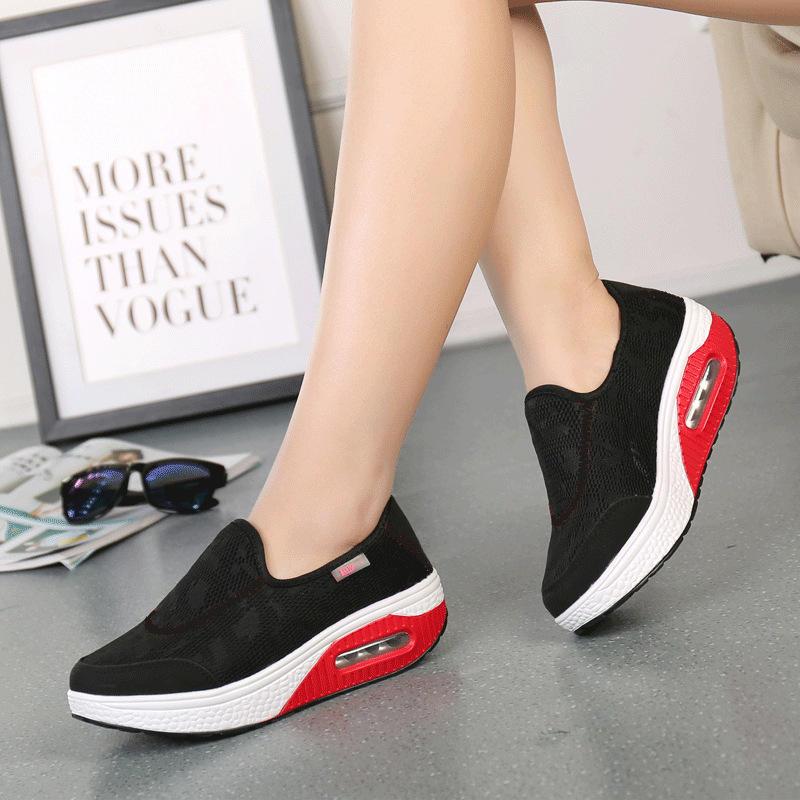 Women Comfortable Mesh Breathable Slip Resistant Sneakers - 10