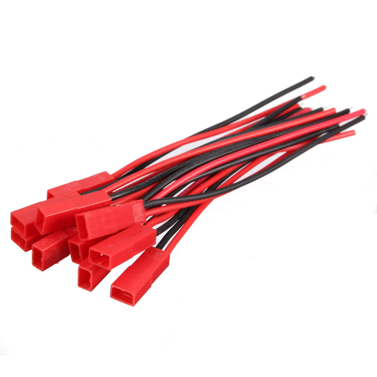 Excellway 20pcs 2 Pins JST Female Connector Plug Cable Wire Line 110mm 22AWG
