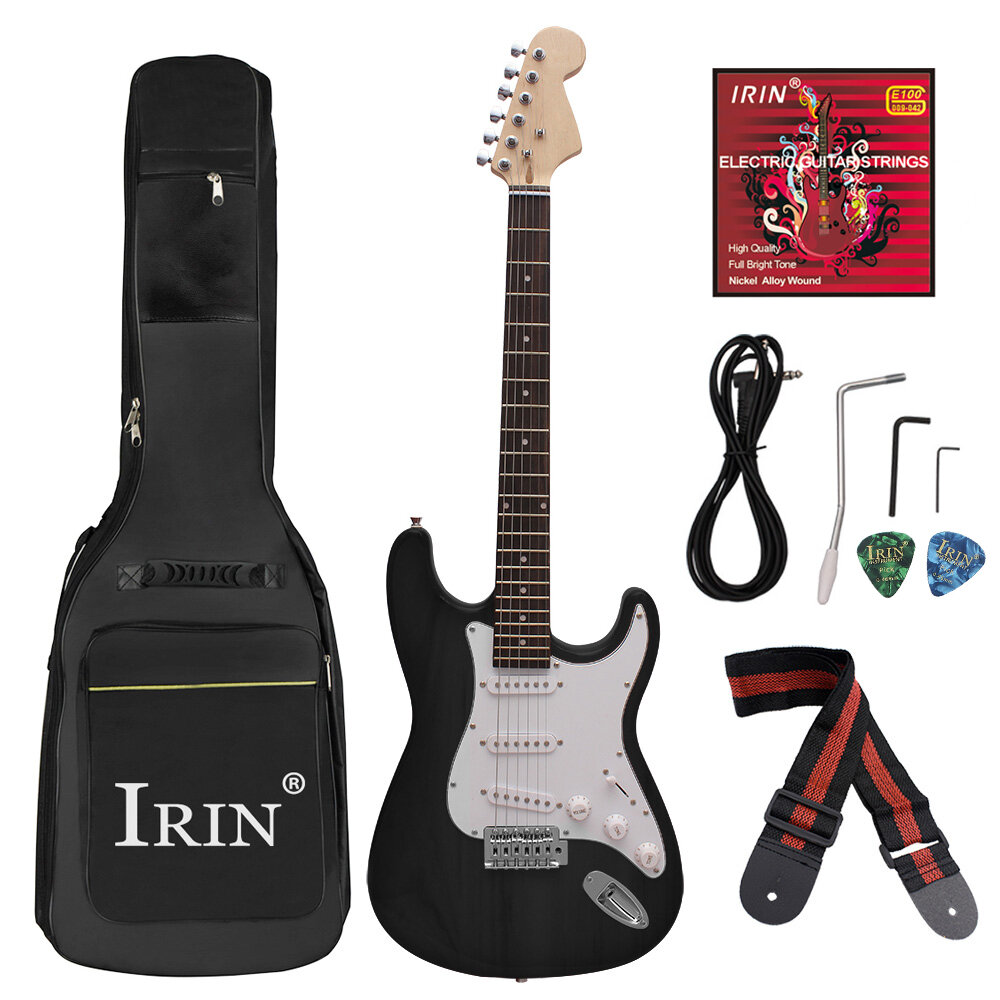 IRIN 38 Inch 6 Strings Electric Guitar with Guitar Bag/Strings/Rocker/Wrench/Picks/Strap/Cable