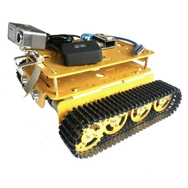 DIY T200 Double Layer WIFI Video Smart Robot Tank Chassis With HD Camera