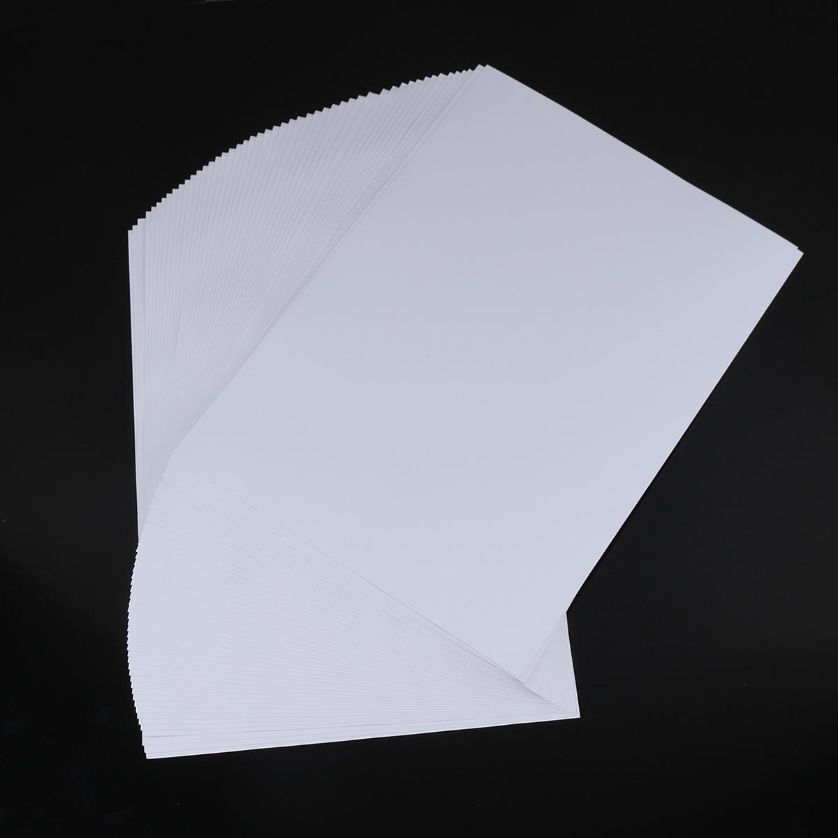Pairi 50Pcs Waterproof A4 Self Adhesive Glossy Paper Sticker for Photographic Photo Inkjet Printer Paper Craft Paper