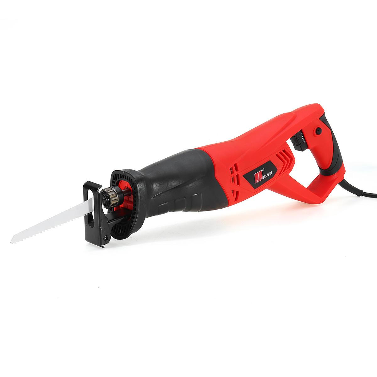 220V 900W Electric Reciprocating Sabre Saw 2 Blades Wood Metal Plastic Pruning Tool