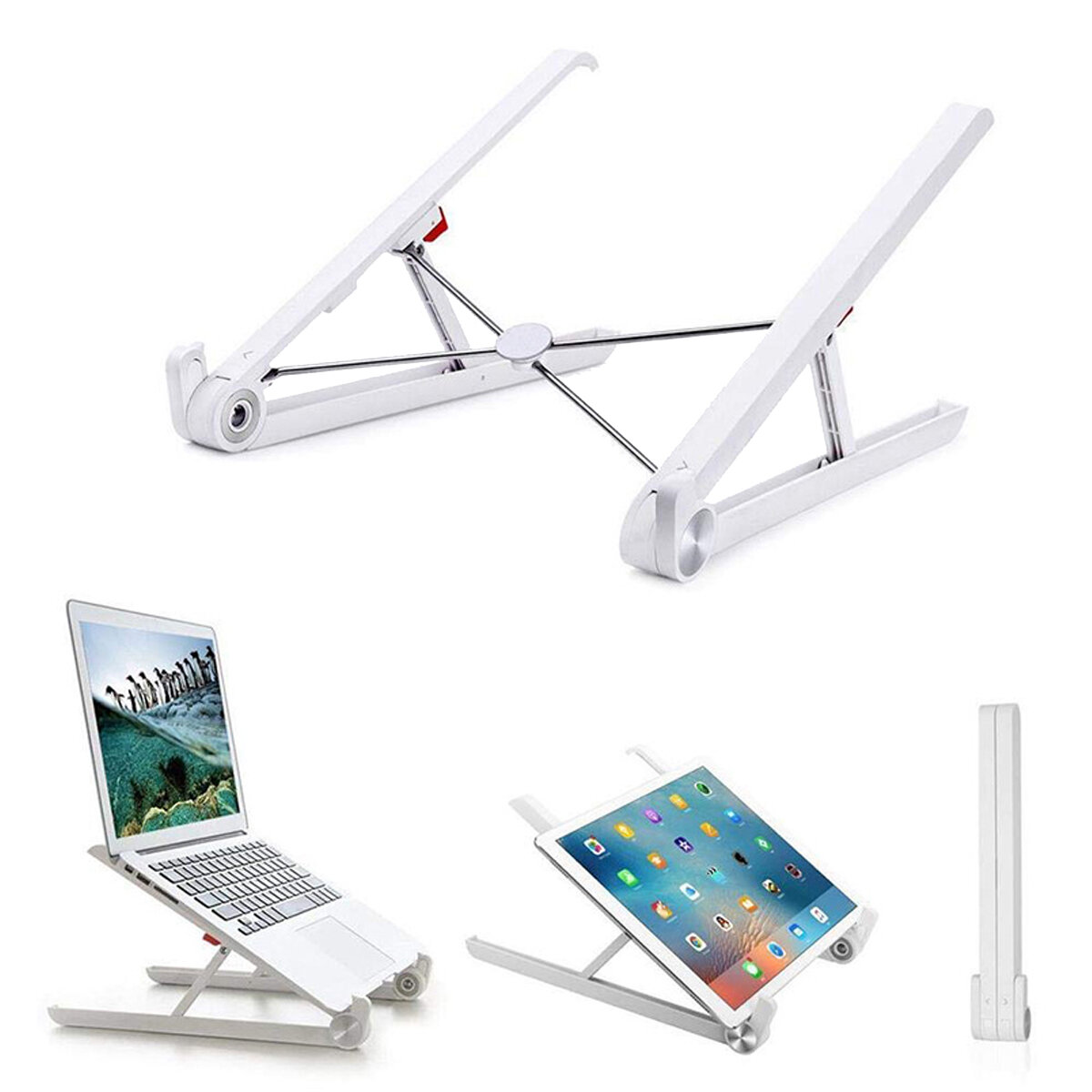Portable Desktop Foldable Height Adjustable Notebook Stand Heat Dissipation For Notebook MacBook 11.0-17.0 Inches, Banggood  - buy with discount