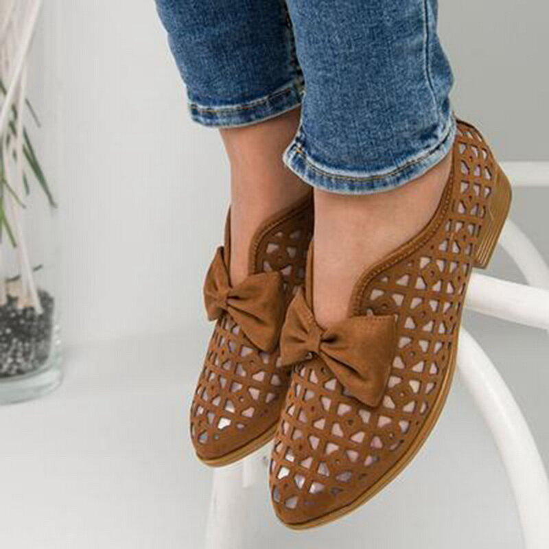 Women Plus Size Comfy Casual Spring Flat Loafers - 4