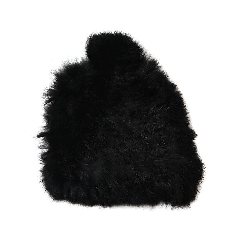 Womens Winter Warm Soft Rabbit Capelli Blend Hat Beanie - 4