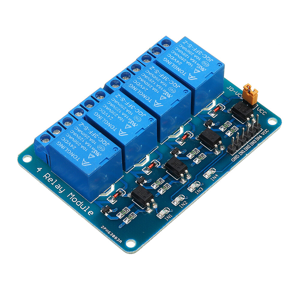 Geekcreit® 24V 4 Channel Relay Module For Arduino PIC ARM DSP AVR MSP430