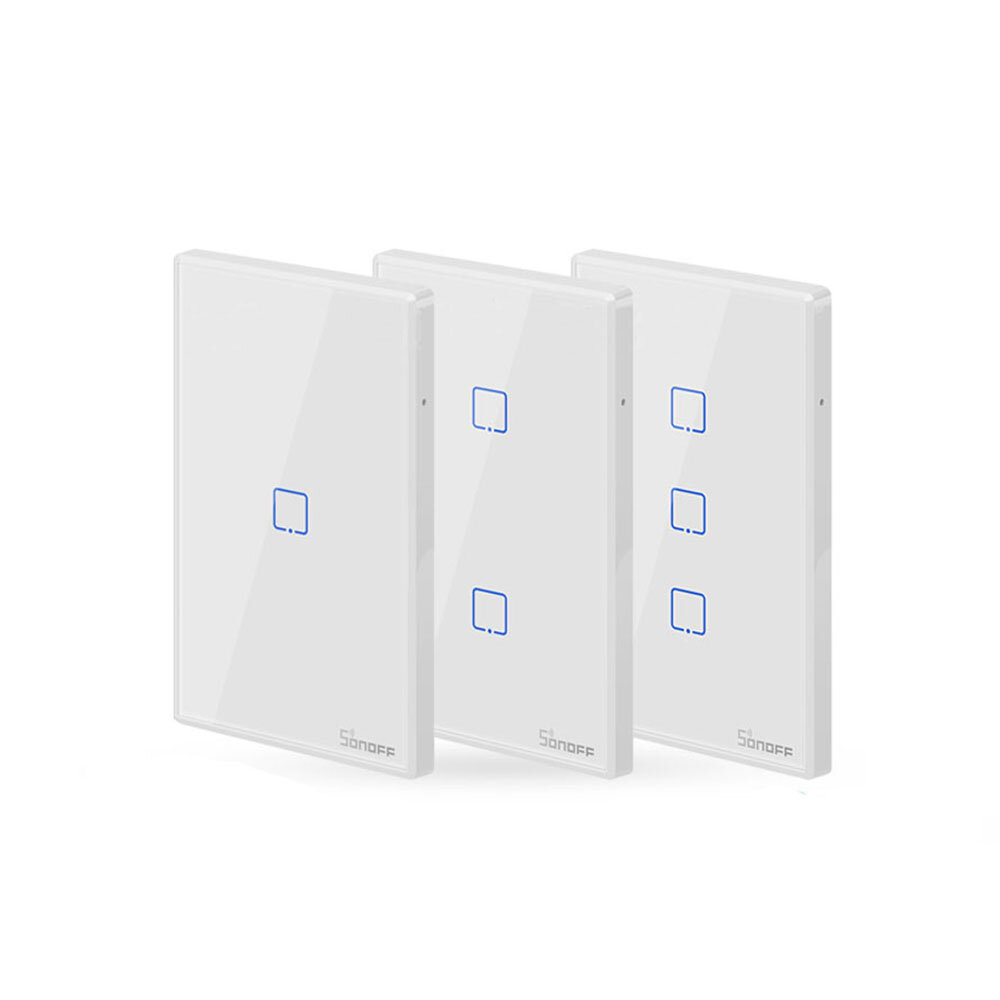 SONOFF® T0 EU/US/UK AC 100-240V 1/2/3 Gang TX Series WIFI Wall Switch Smart  Wall Touch Light Switch For Smart Home Work With Alexa Google Home