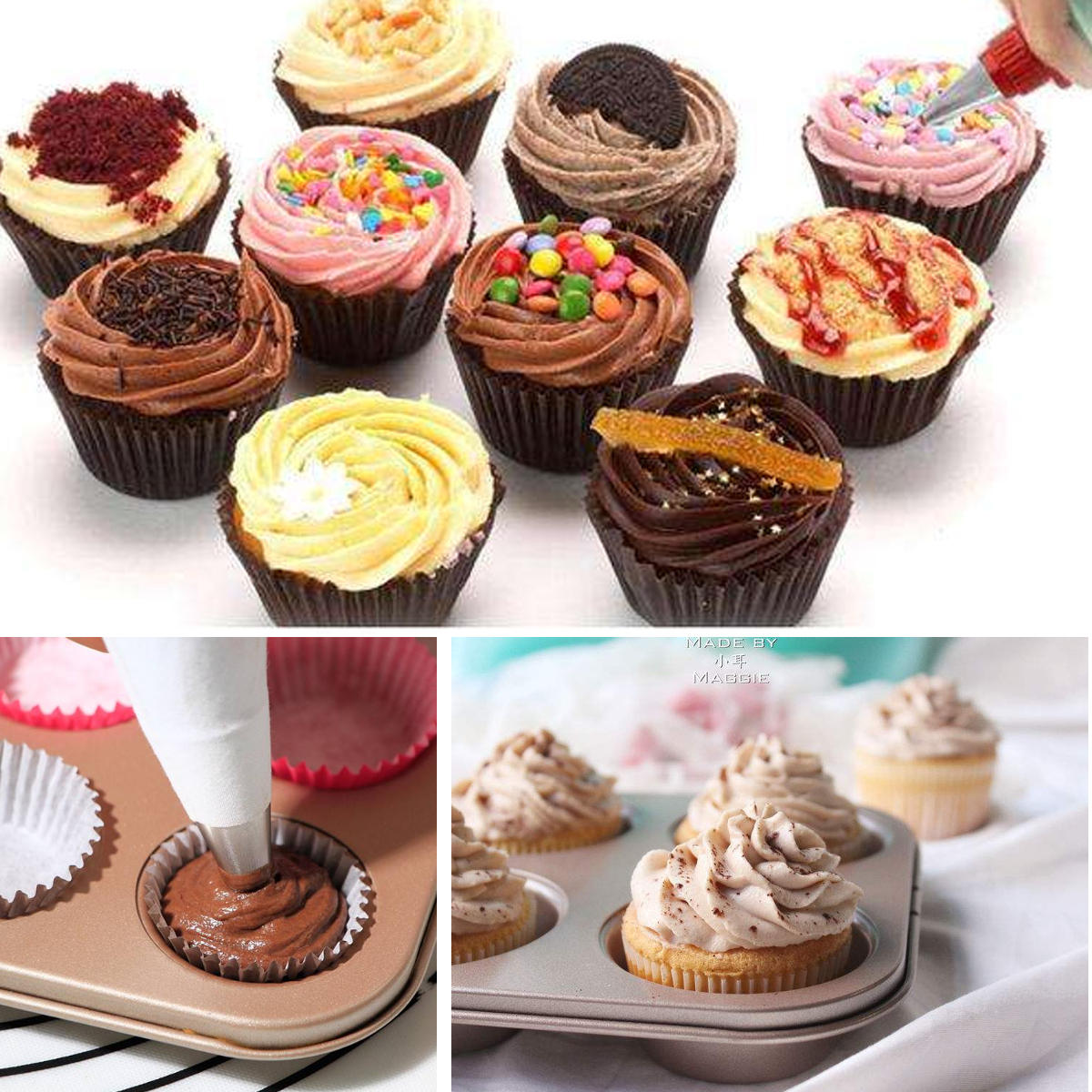 KCASA KC-PN15 7pc/set Silicone Icing Piping Nozzle Cream Pastry Bag Stainless Steel Nozzle Sets Cake DIY Decorating Baking Tool - 12