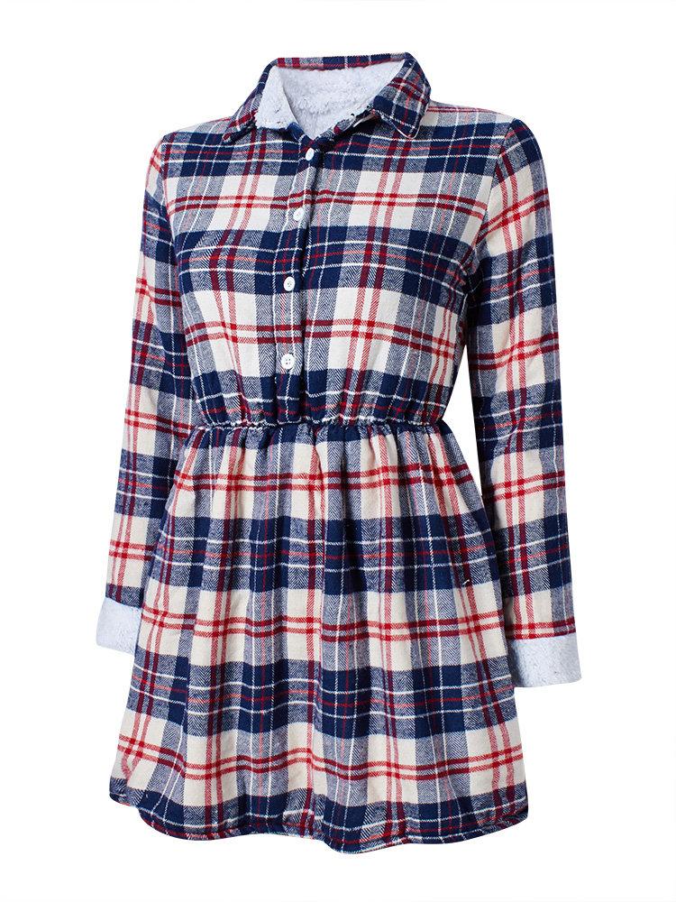 Fleece Thick Patchwork Zipper Long Sleeve Casual Coats - 2