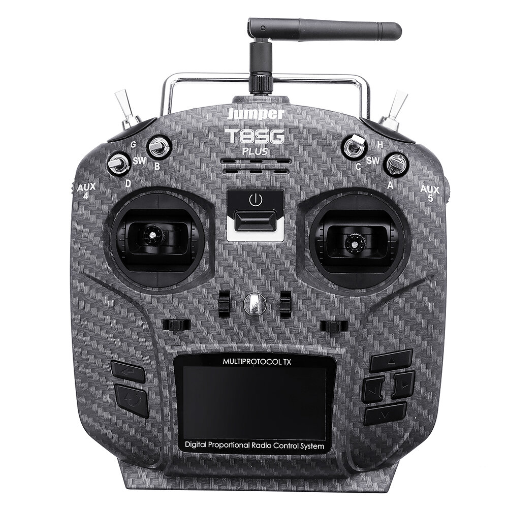 Jumper T8SG V2.0 Plus Carbon Special Edition Hall Gimbal Multi-protocol Advanced Transmitter for Flysky Frsky