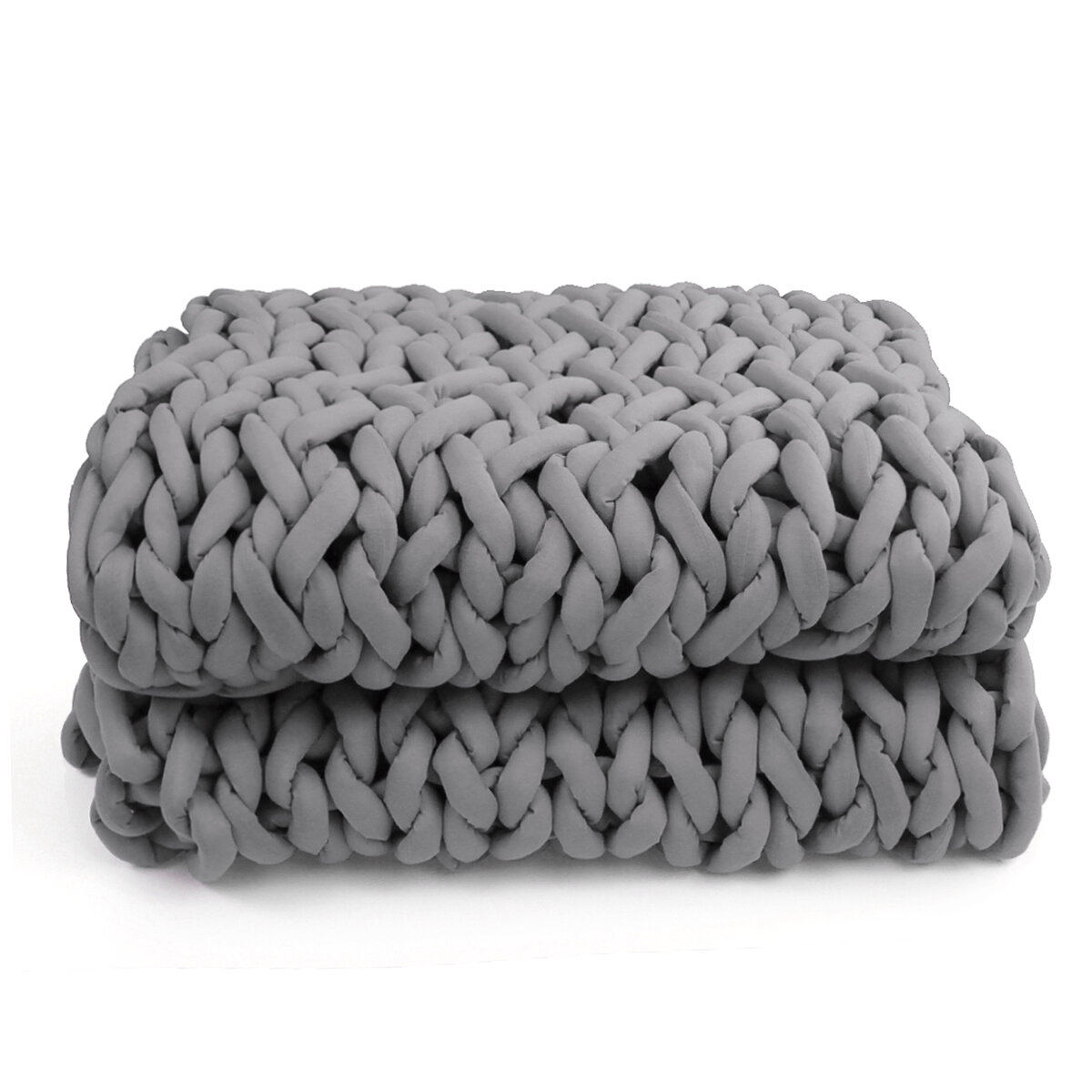 100x120cm Handmade Knitted Blankets Soft Warm Thick Line Cotton Throw Blankets - 3