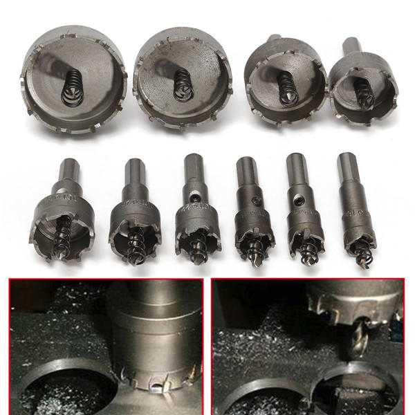 13Pcs 16-53mm Drill Bit Set High Spped Steel Tooth Hole Saw Cutter - 2