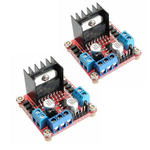 2Pcs Geekcreit L298N Dual H Bridge Stepper Motor Driver Board Geekcreit for Arduino - products that work with official Arduino boards
