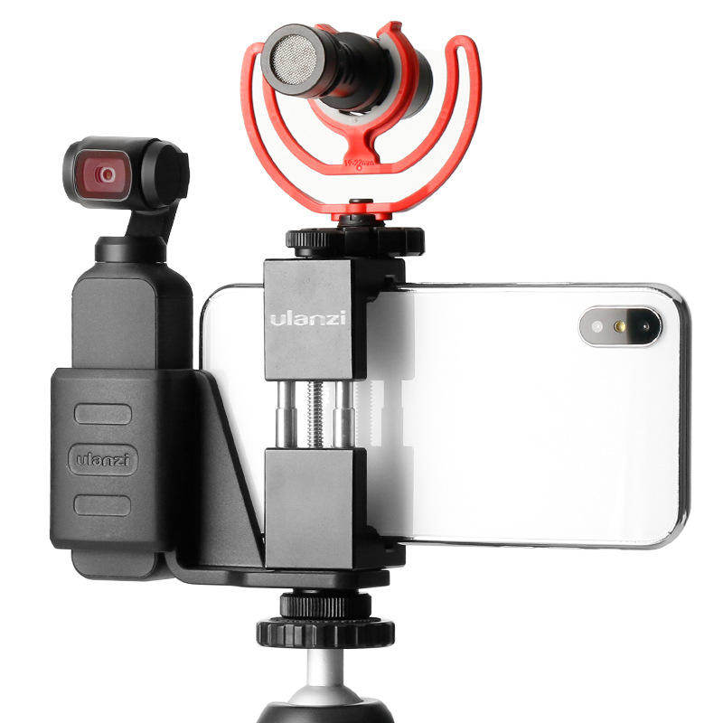 Ulanzi OP-1 Holder for DJI Osmo Gimbal Camera with ST-02 Phone Clip Clamp