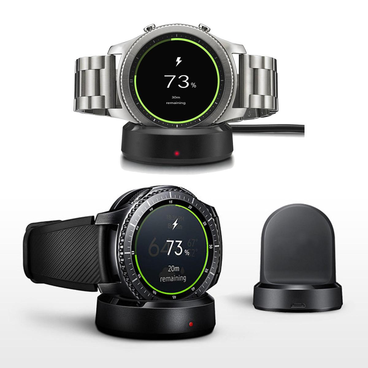 Nieuwe QI Wireless Charging Dock Cradle Charger voor Samsung Gear S3 Classic / Frontier iWatch Series 3