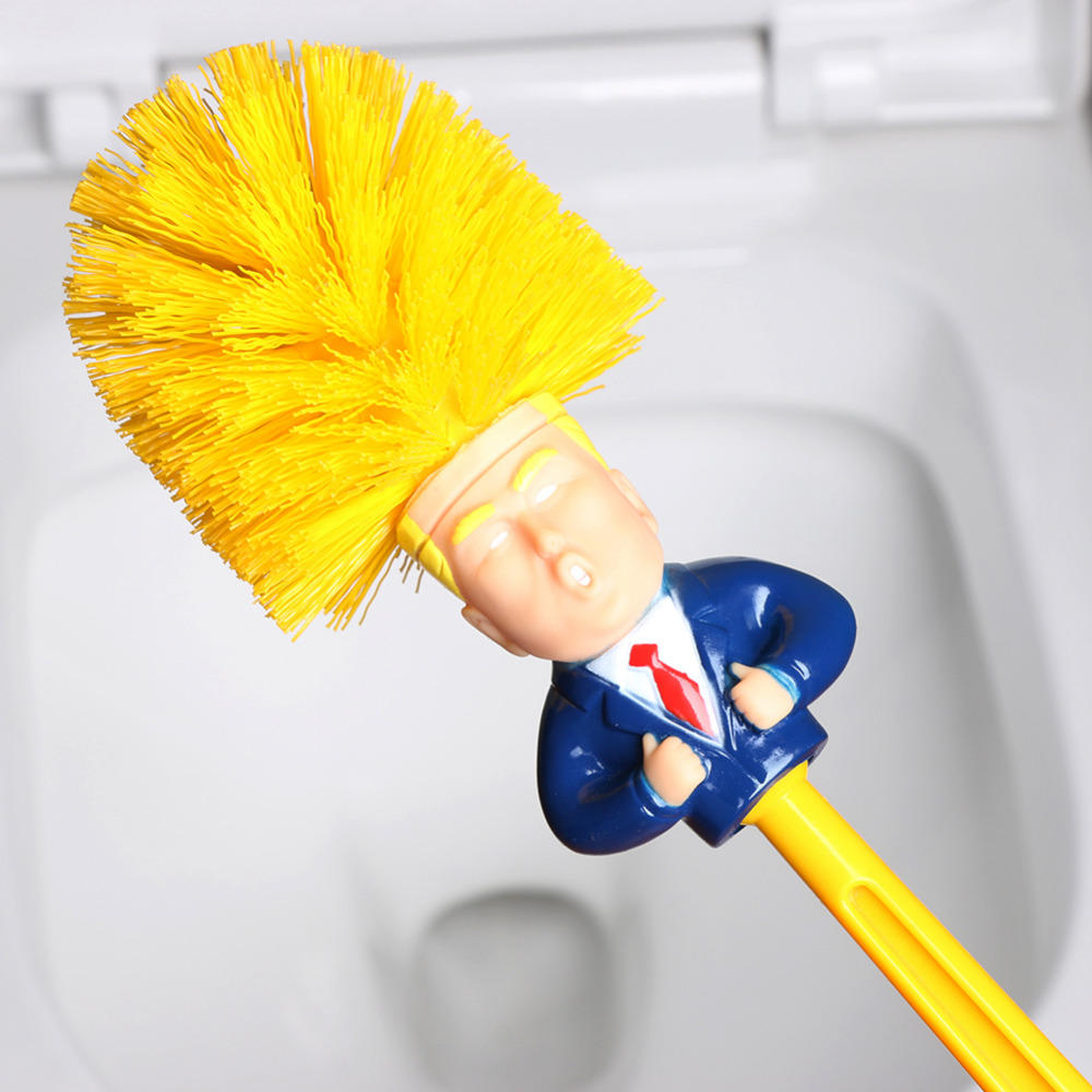 Funny Toilet Supplies Cleaning Tools WC Donald Trump Toilet Base Home Hotel Bathroom Cleaning Brush Accessories - 4